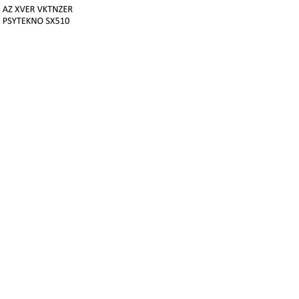 Альбом: PSYTEKNO SX510